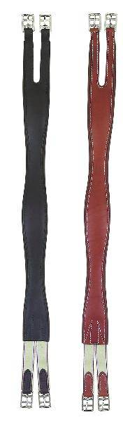 Perris Leather Collection Leather Overlay Girth