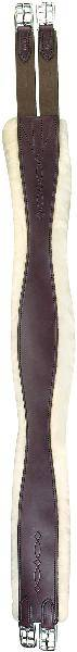 Perris Leather Collection Leather Sheepskin Overlay Girth