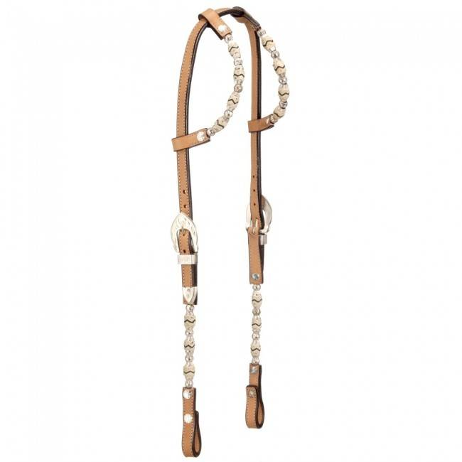 Royal King Rawhide/Ferruled Silver Double Ear Show Headstall