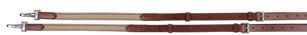 Henri de Rivel Leather Side Reins With Elastic Insert