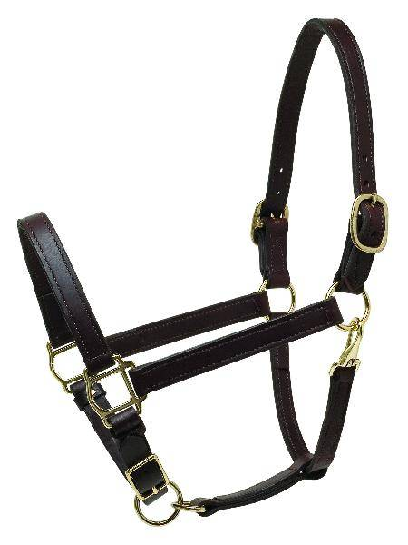 Perris 1'' Deluxe Turnout Leather Halter