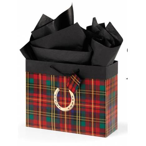 Festive Plaid Horizontal Vogue Gift Bag