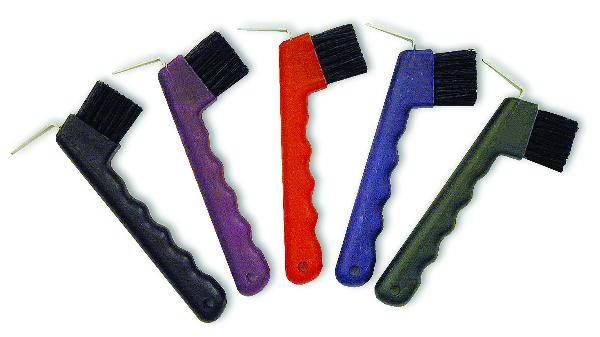 Nunn Finer Hoof Pick with Brush - Black