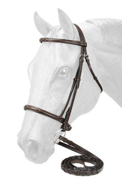 EquiRoyal Fancy Stitched Raised Snaffle Bridle