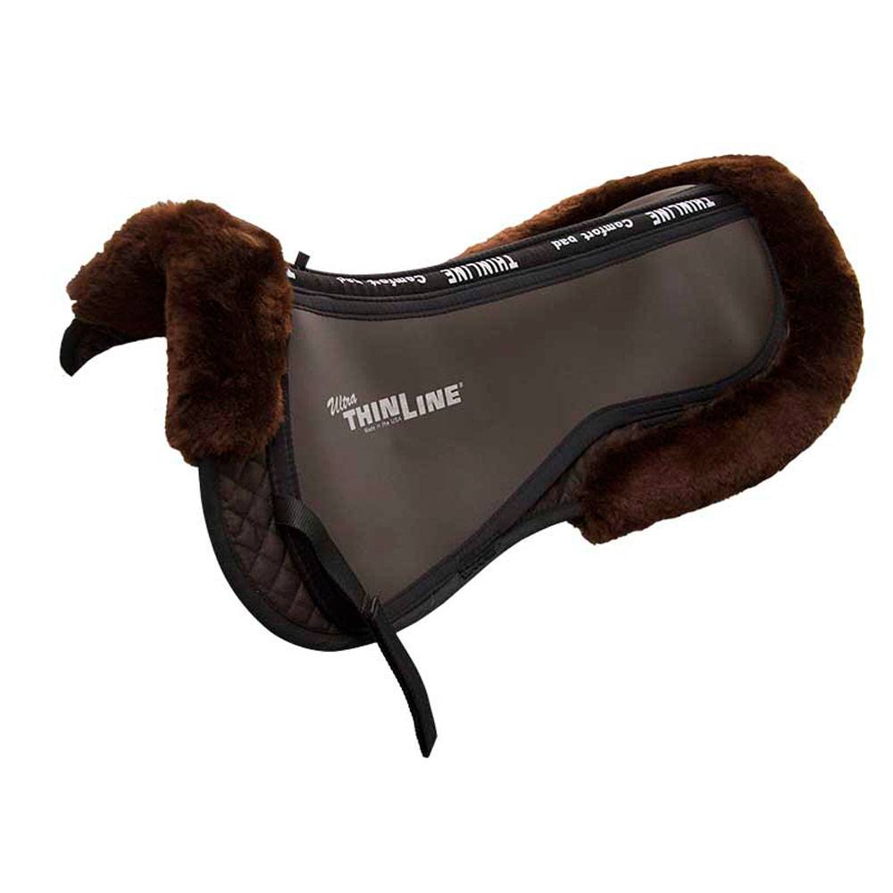 Ultra ThinLine Trifecta Cotton Half Pad with Sheepskin