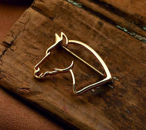 Kelley Horse Head Brooch