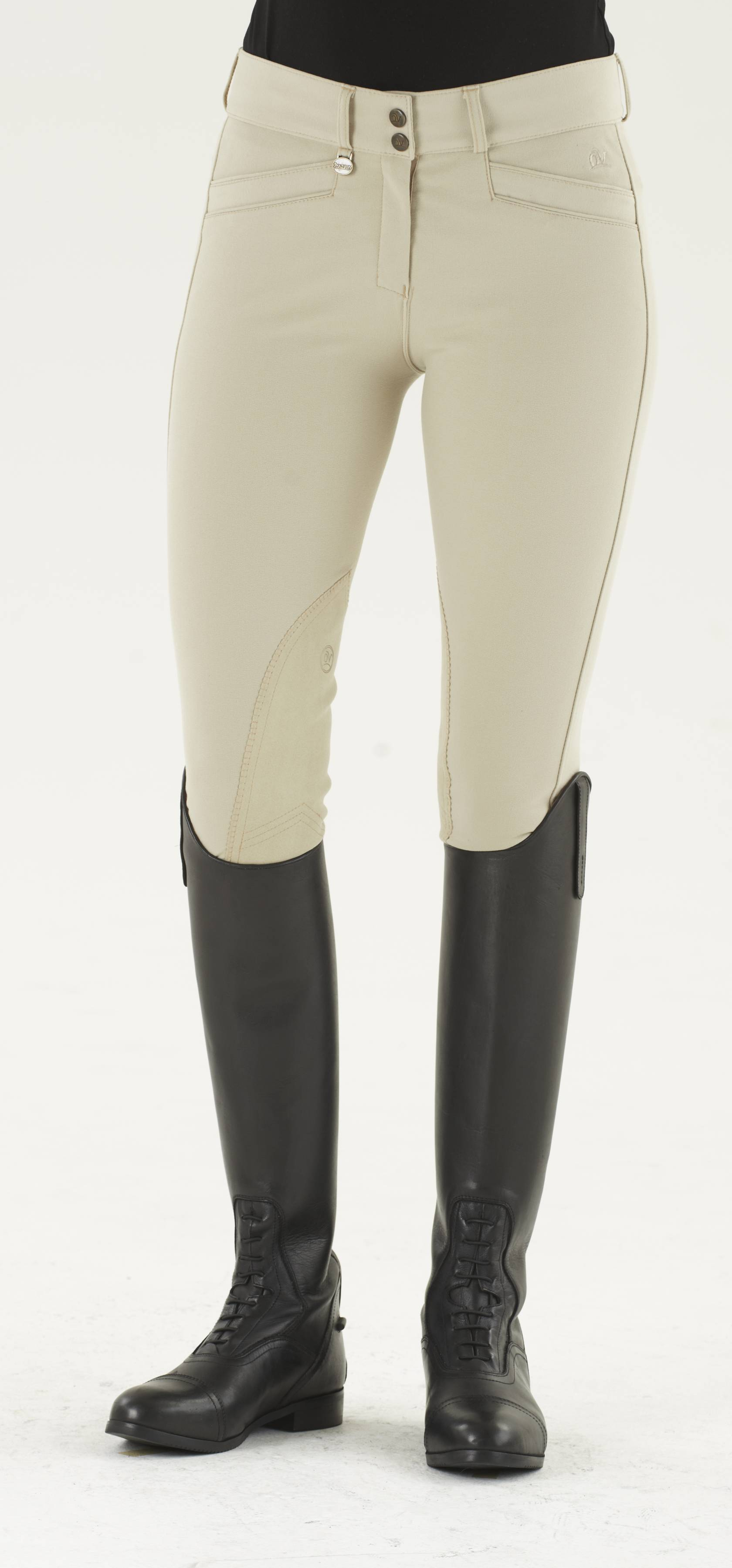 Ovation Ladies Slim Secret DX Euroseat Knee Patch Breeches