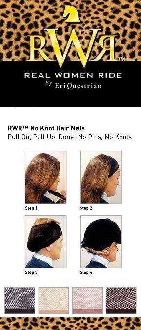 Real Women Ride No Knot Hair Net