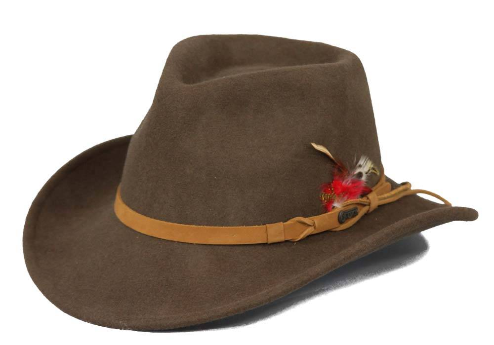 Outlet - Outback Trading Tassy Crushers Randwick Hat- Unisex, Medium, Brown