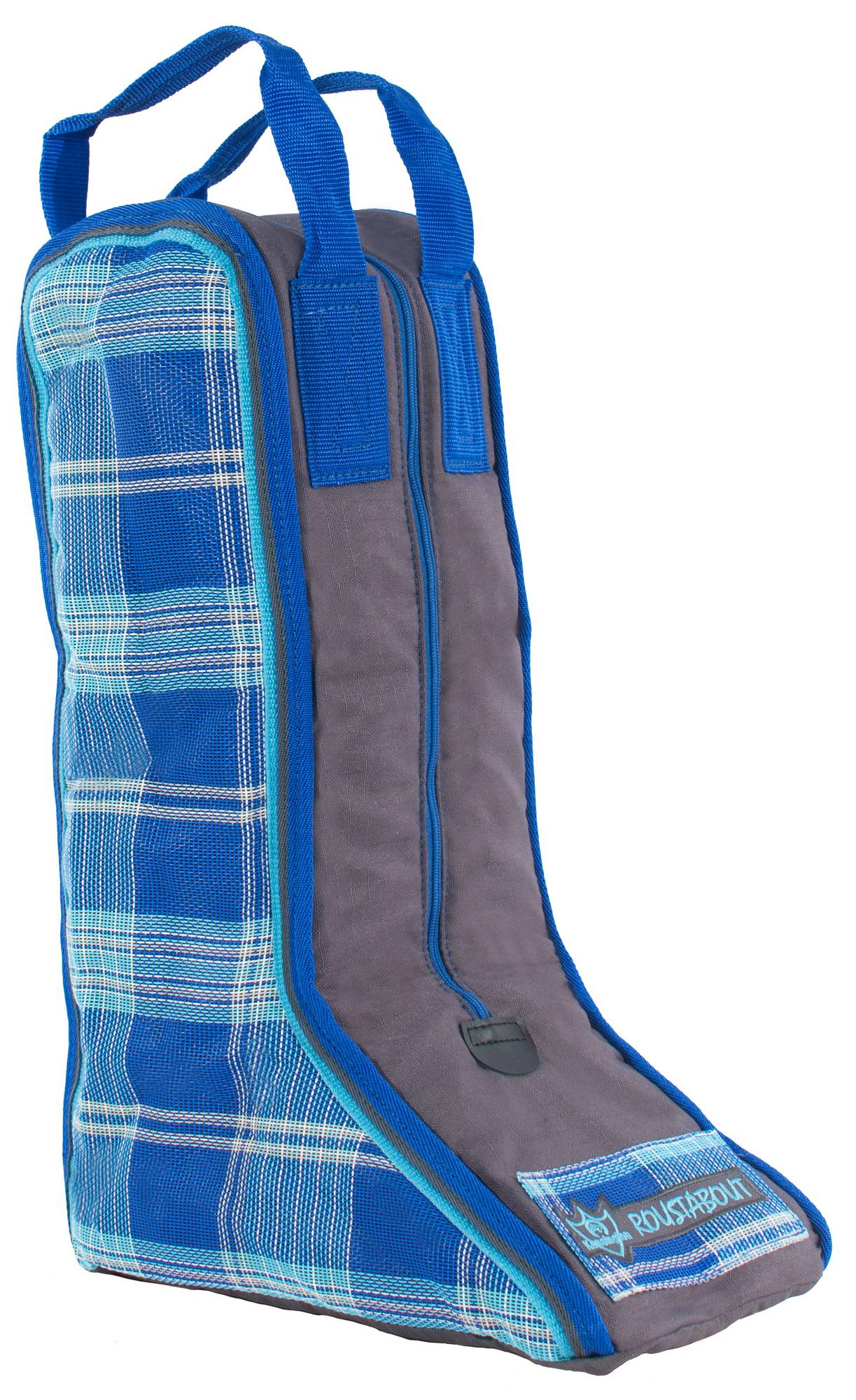 Outlet - Kensington Roustabout Boot Bag, 22'' Tall, Blue Ice Plaid