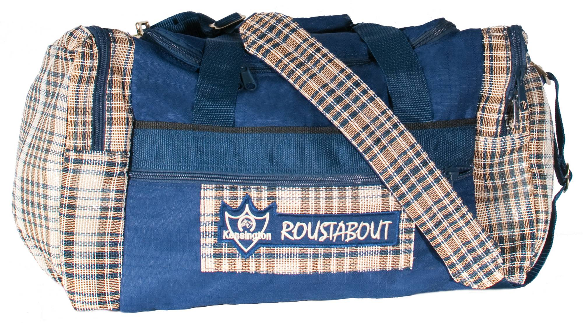 Outlet - Kensington Roustabout Gear Bag, Small, Navy with English Navy Plaid