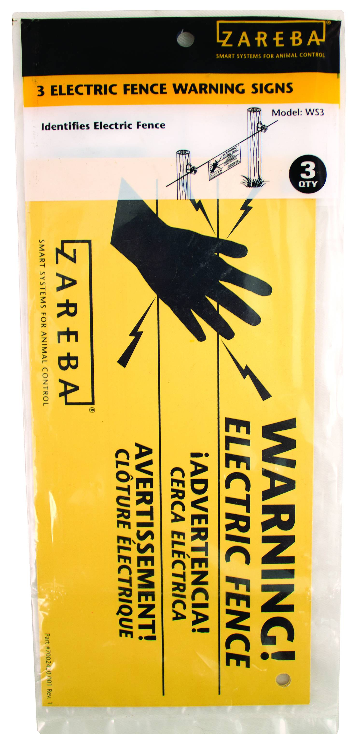 Zareba Electric Fence Warning Signs