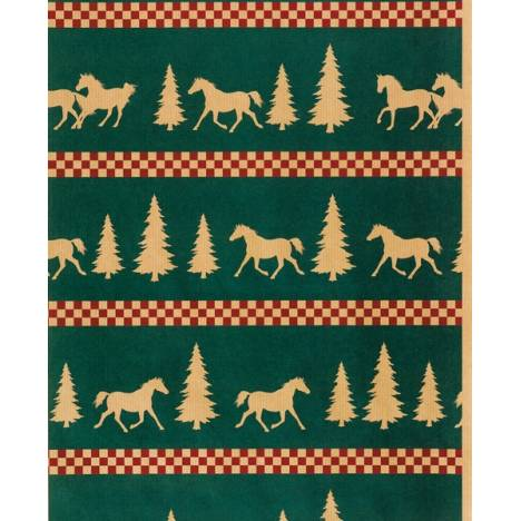 Horseshoe Gift Packaging Forest Frolic Holiday Horse Wrapping Paper