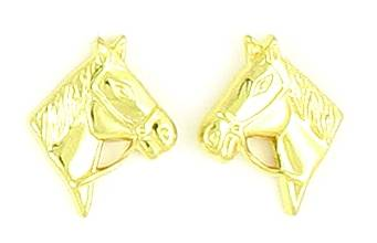 Finishing Touch Horse Head with Reins Earrings