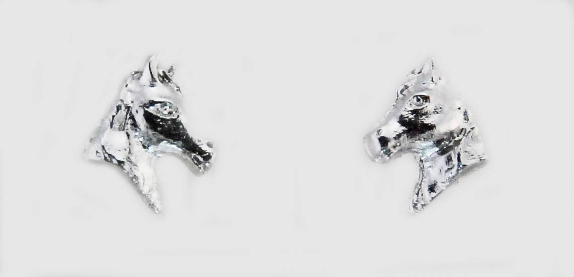 Finishing Touch Finishing Touch 3-D Horse Head Silver Pierced Earring