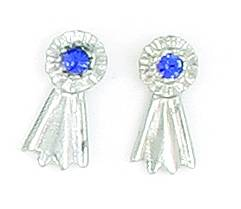 Finishing Touch Blue Ribbon Earrings