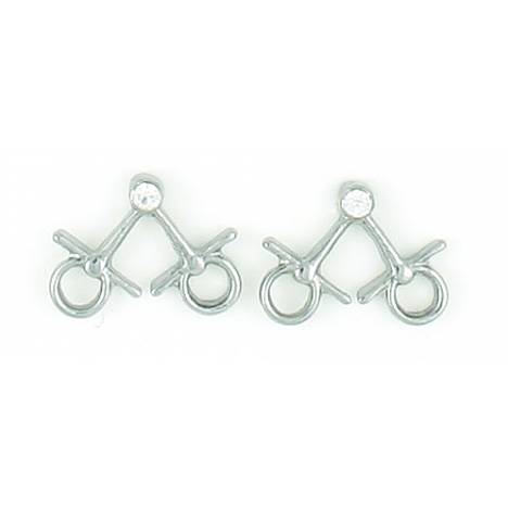 Finishing Touch Mini Snaffle Bit Earrings with Stone