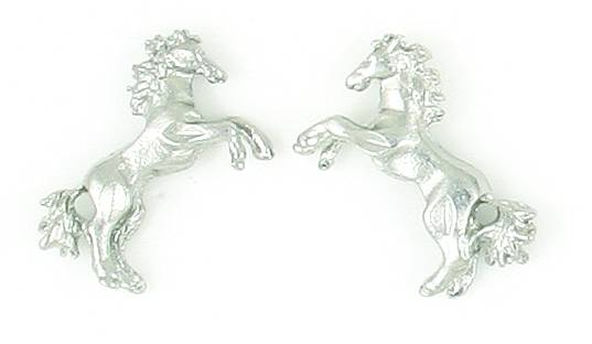 Finishing Touch Fluffytail Horse Pierced Earring - Gold