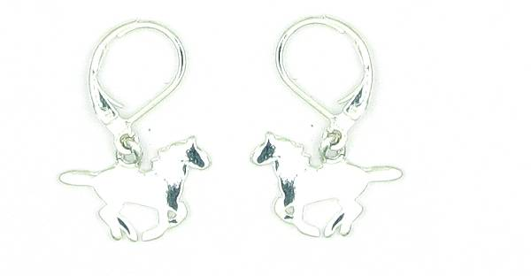 Finishing Touch Running Horse Profile Earrings - Euro Wire