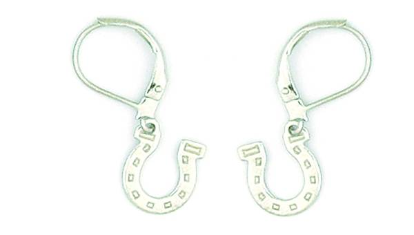 Finishing Touch Horseshoe Charm Earrings - Euro Wire