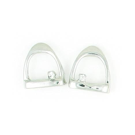 Finishing Touch Stirrup with Crystal Stone Earrings