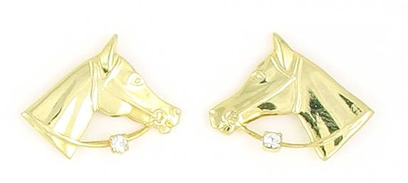 Finishing Touch Horse Head with Bridle & Stone Earrings