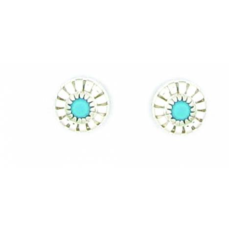 Finishing Touch Turquoise Stone Earrings