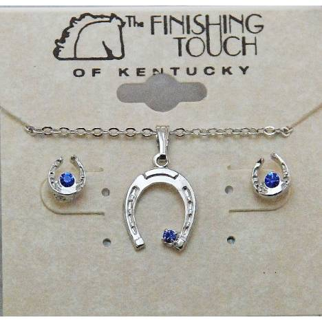 Finishing Touch Horseshoe with Stone Gift Set - Sapphire