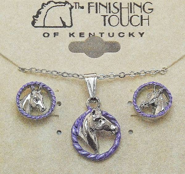 Finishing Touch 2-Tone Horse Head In Rope Gift Set