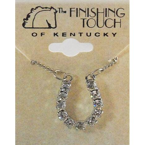 Finishing Touch Crystal Horseshoe Necklace