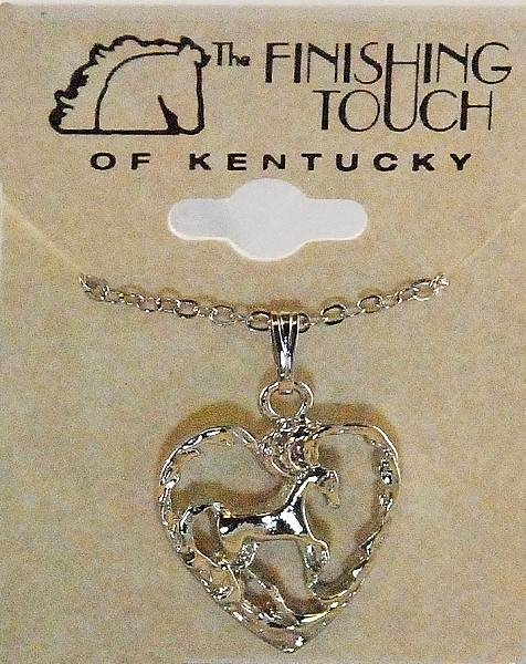 Finishing Touch Horse In Heart Pendant