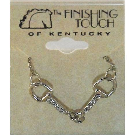 Finishing Touch Snaffle Bit with Crystal Stones Necklace