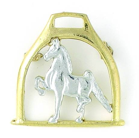 Finishing Touch 2-Tone Saddlebred On Stirrup Pin