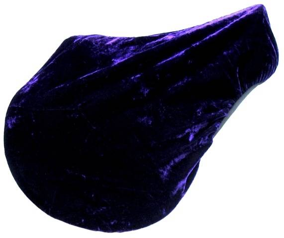 Crushed Velvet Saddle Cover