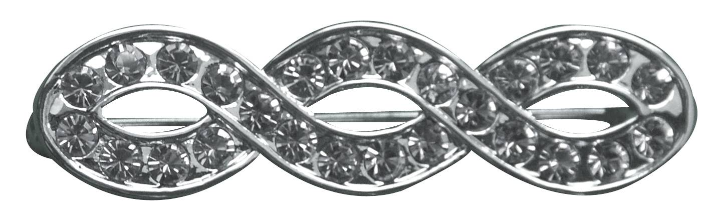 Infinity Platinum Plate Stock Pin with Stones