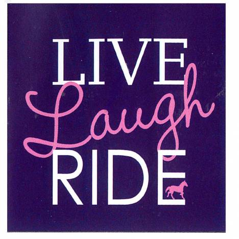 Sound Equine Ladies Tee Shirt Live Laugh Ride
