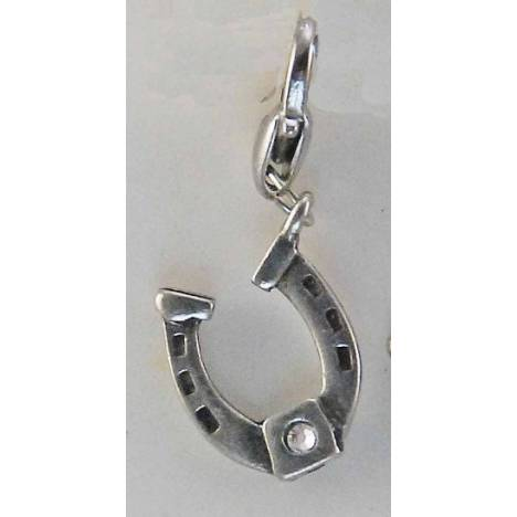 Barbary Horseshoe with Stone Charm