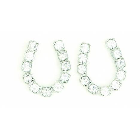 Finishing Touch Horseshoe Earrings - Crystal