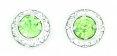 Finishing Touch Crystal Rondelle Earrings - Peridot