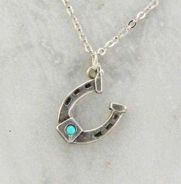 Finishing Touch Horseshoe Stone Necklace - Crystal