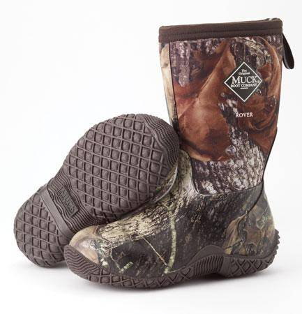 Outlet - Muck Boots Rover Ii Youth Boots - Mossy Oak Break-Up, 6, Mossy Oak Break-Up