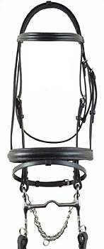 Millstone Raised Padded Dressage Bridle with Flash
