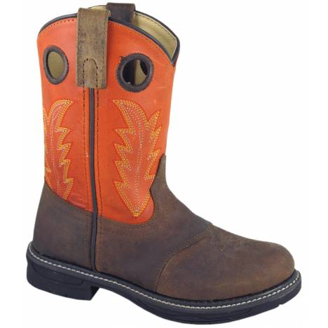 Smoky Boots Buffalo Wellington Boots - Youth, Brown/Burnt Orange