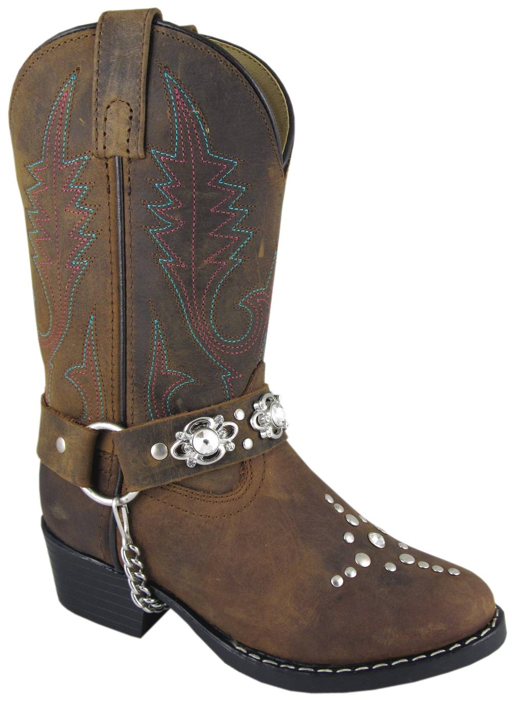 Smoky Mountain Starlight Western Boots - Kids, Black