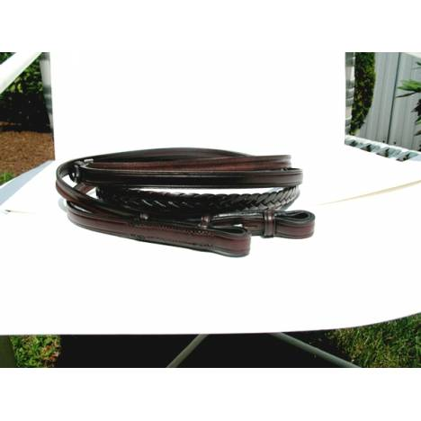 Tory Leather Plaited Reins With Hook & Stud Ends