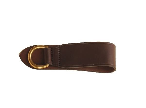 TORY LEATHER 2'' Deluxe Girth Ring - Brass Dee