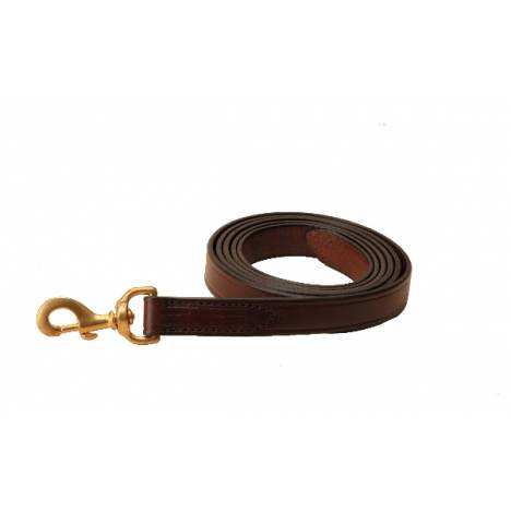 TORY LEATHER Single Ply Lead - Solid Brass Snap