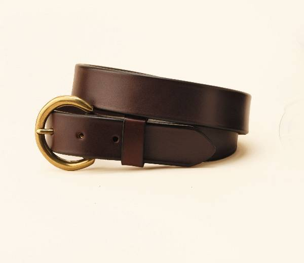 TORY LEATHER 1 1/4'' Plain Belt with Buckle