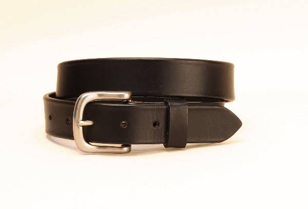 TORY LEATHER 1 1/4'' Plain Belt with Square Nickel Buckle