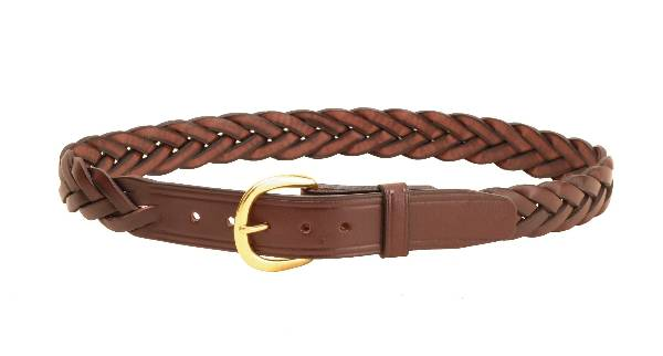 TORY LEATHER 1 1/4'' Braided Leather Belt